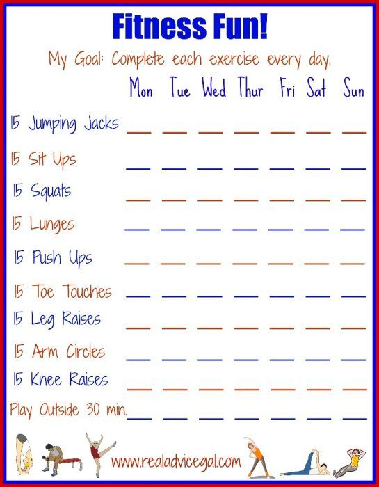 Exercise Checklist